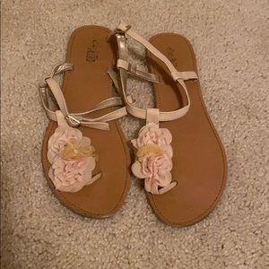 Cream floral Charlotte Russe sandals